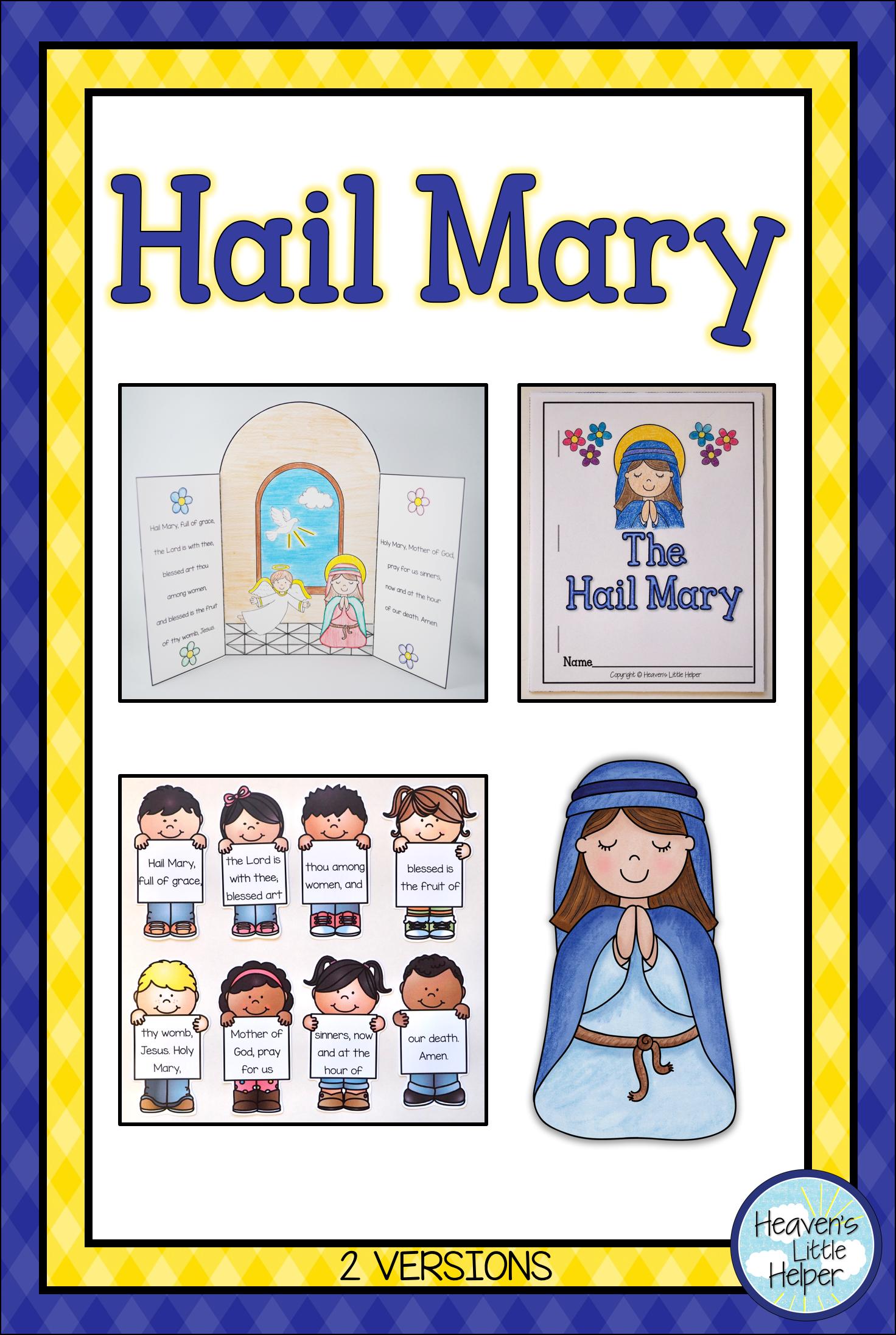 Catholic Religion Hail Mary Prayer