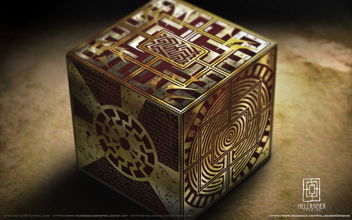 """Lemarchand was the box maker - this box is """"The box of Sorrows"""" in its Lament configuration. Description from steelgohst.deviantart.com. I searched for this on bing.com/images"""