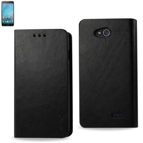 Reiko Flip Case With Card Holder For Lg Optimus L90 D405 Black