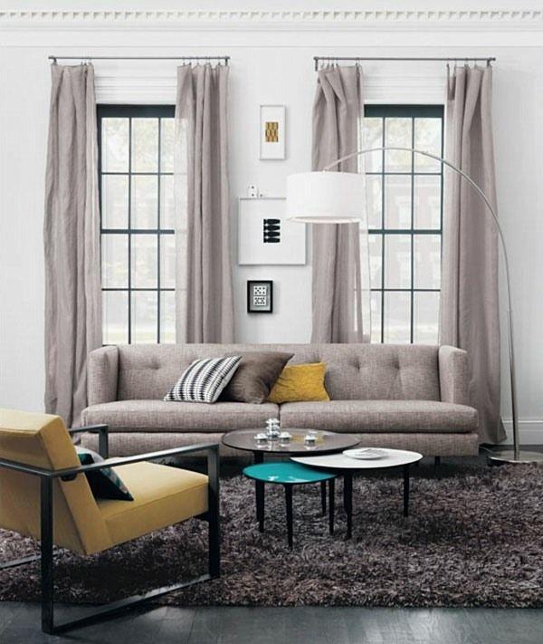 Rideaux salon - 30 idées de rideaux modernes Salons, Living rooms - couleur pour salon moderne