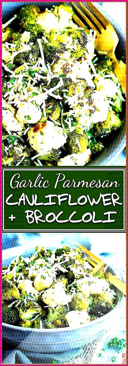 Garlic Parmesan Roasted Broccoli and Cauliflower Garlic Parmesan Roasted Broccoli and Cauliflower J