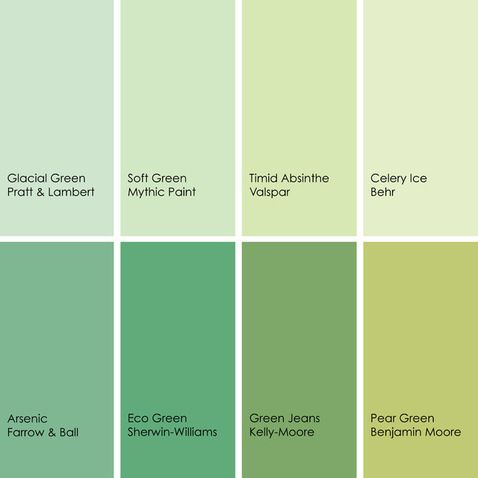 The shade of green labeled eco green is kind of a for Soft neutral green paint color