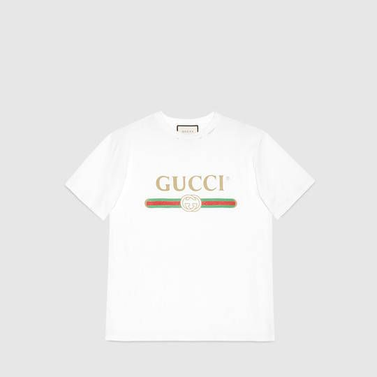 e6a90fdb Oversize T-shirt with Gucci logo | Cute Styles! | T shirt, Gucci, T ...
