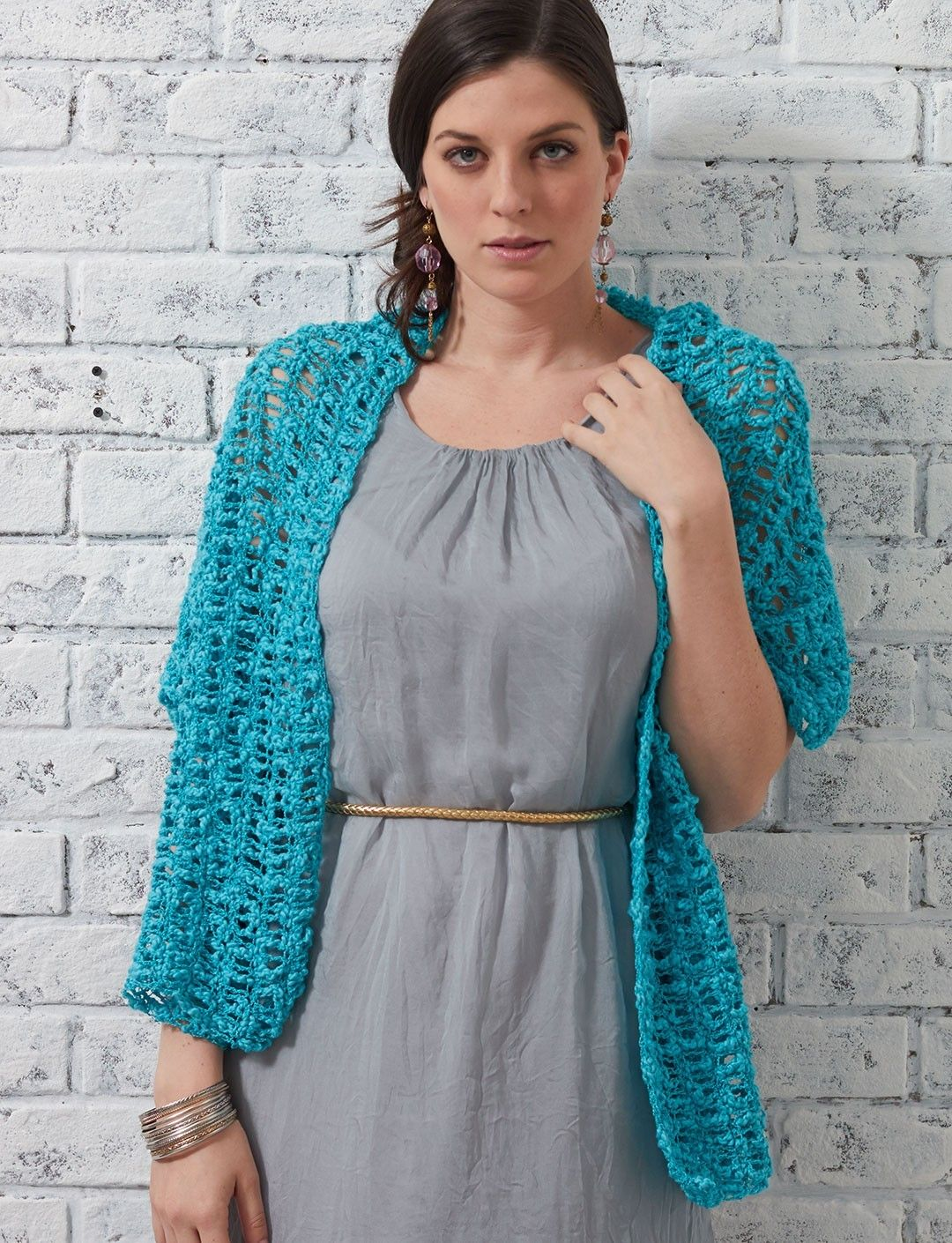 Light summer stole featuring a geometric lace pattern. Crochet using ...