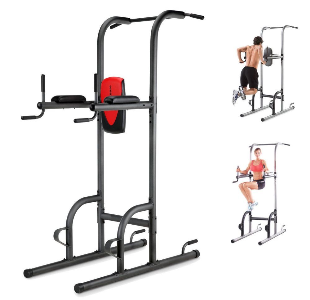 Power Tower Pull Up Push DIP ABS Home Workout Weider Golds Gym XR 10 9 New 043619554588