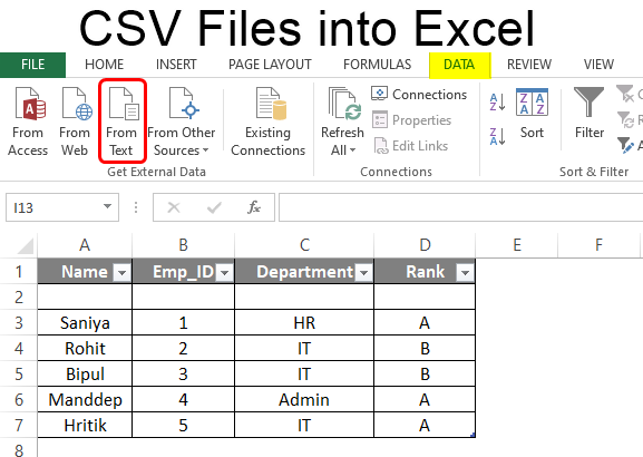 Csv Files Into Excel Methods To Open Csv Files In Excel Examples Cv Builder Cv Tips Blog Planning