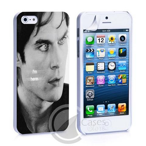 Damon Salvatore I'm Here iPhone 4, 4S, 5, 5C, 5S Samsung Galaxy S2, S3 – iCasesStore