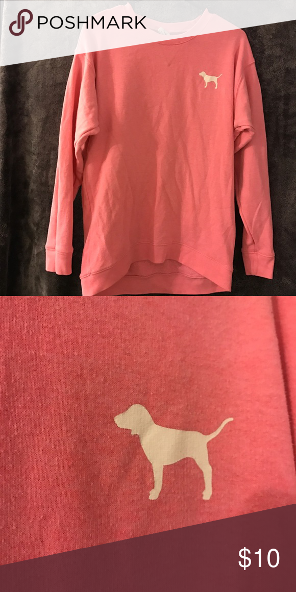 Campus style sweater Made to fit oversized PINK Victoria's Secret Sweaters Crew & Scoop Necks