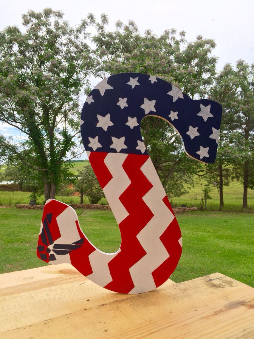 #AirForce #AmericanFlag #Merica #doorhanger Smith/Air Force door hanger!