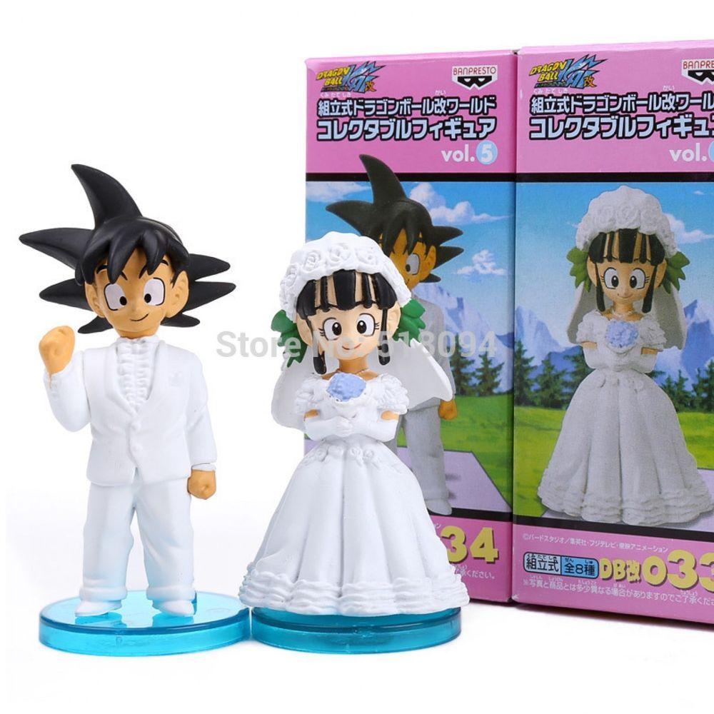 Dragon Ball Z DBZ Son Goku//Gokou /& ChiChi Figure Toys Wedding Cake Topper Gift