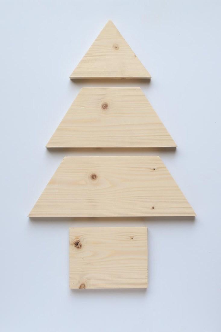 DIY Wood Christmas Tree Mason Jar Sconce - Angela Marie Made | Wood christmas tree, Wooden ...