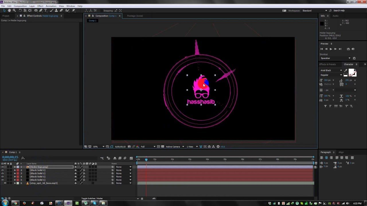 After Effect Tutorial Nice Music Equalization Audio Spectrum Tutorial Intro In After Effect Cc After Effect Tutorial Tutorial After Effects