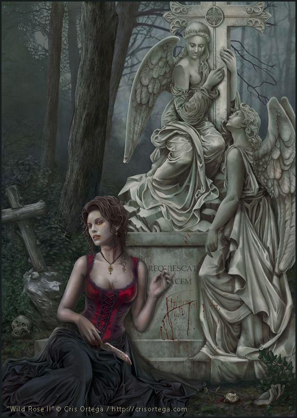Mujer en el cementerio By Cris Ortega