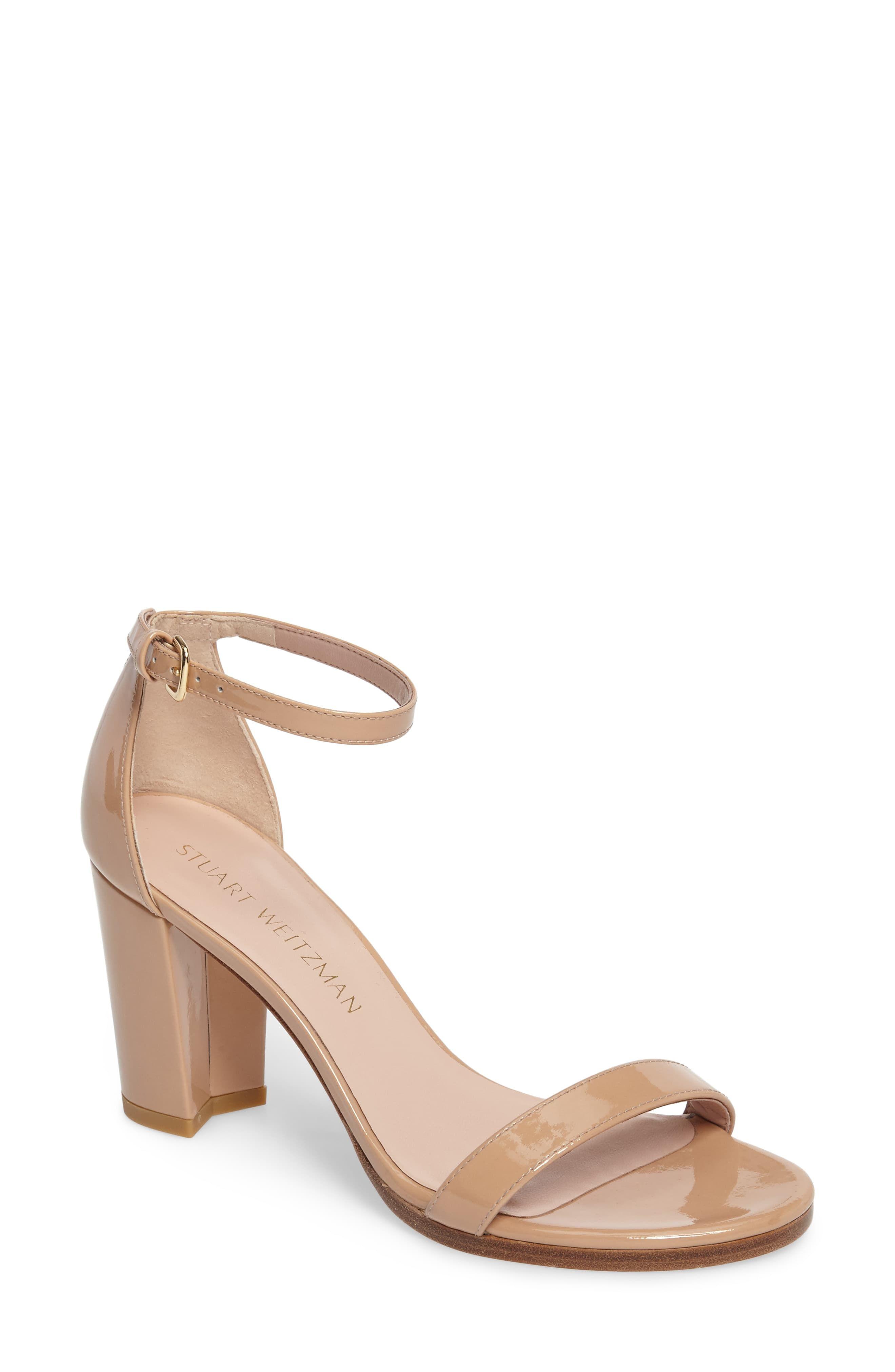 e32bb64d08b Women's Stuart Weitzman Nearlynude Ankle Strap Sandal, Size 6.5 M ...
