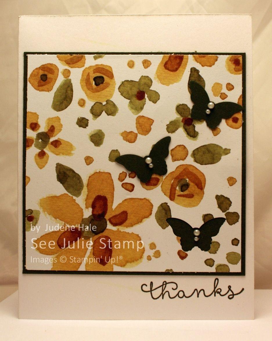 See Julie Stamp - Julie Wadlinger, Stampin' Up! Demonstrator : Swap: Cards in the Mail | English Garden