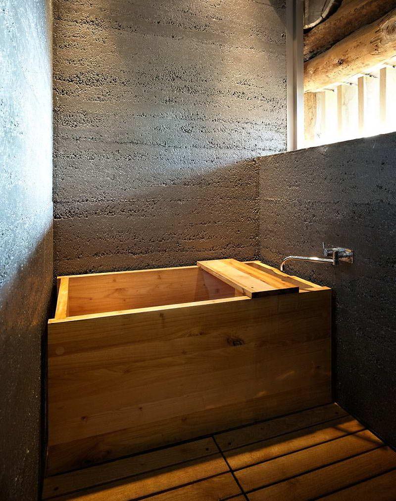 Maison bois Suisse 11 | Déco : Salle de bain | Baignoire bois ...