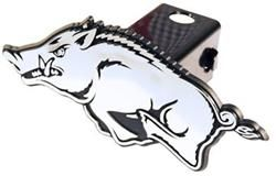 NCAA Arkansas Razorbacks Car Magnet Running Hog Small, 2 Pack
