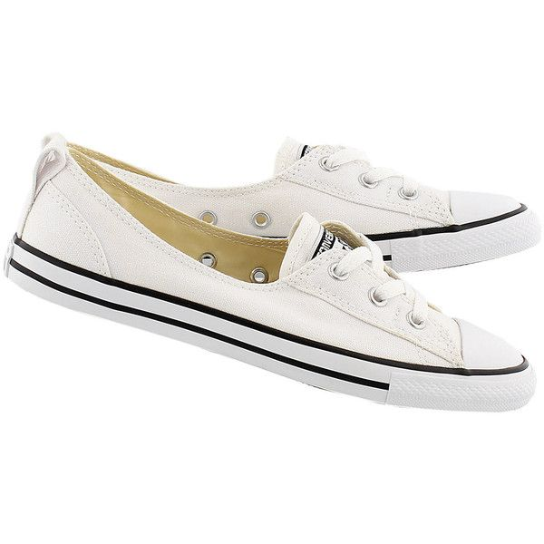 1a4c8f73527e Converse Women s CT ALL STAR BALLET LACE white slip-ons ❤ liked on Polyvore  featuring shoes