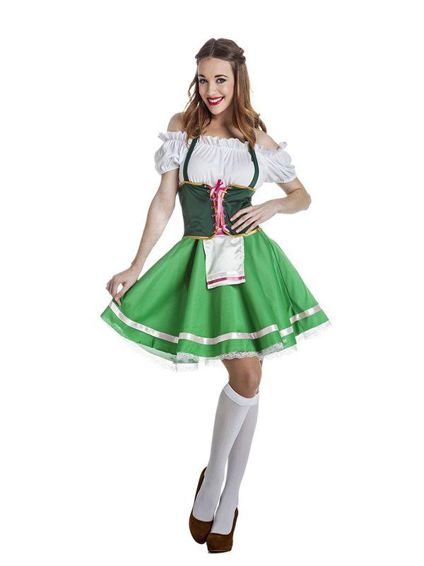 d6a1d9ec5 disfraz de tirolesa verde para mujer | Women | Disfraz tirolesa ...