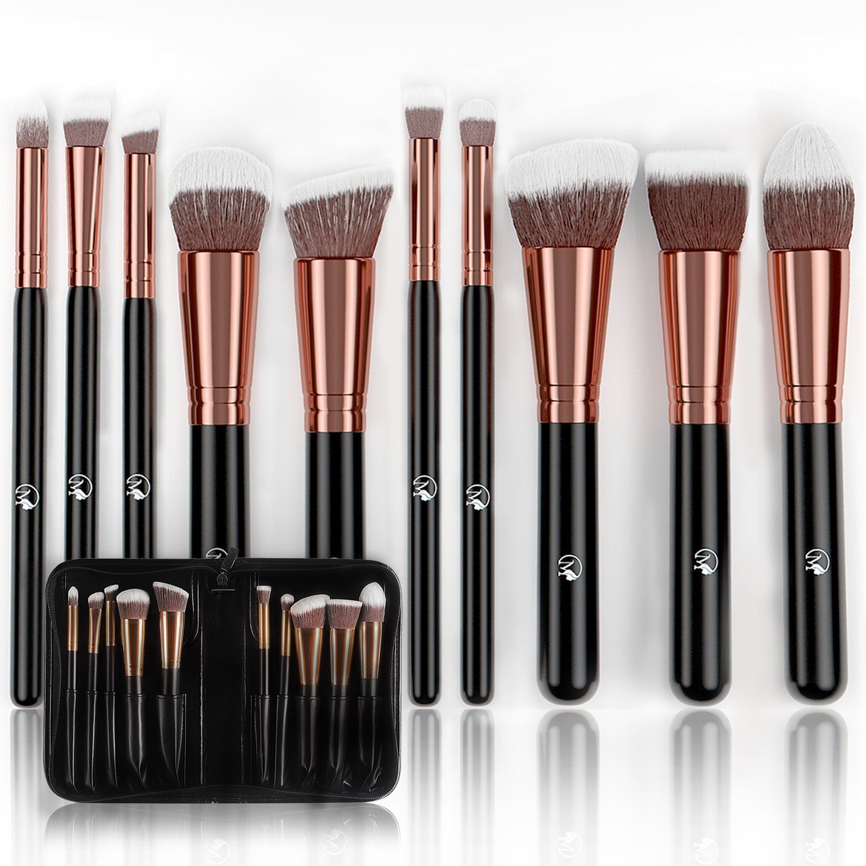 Magnifeko Professional Makeup Brushes Set With case (10