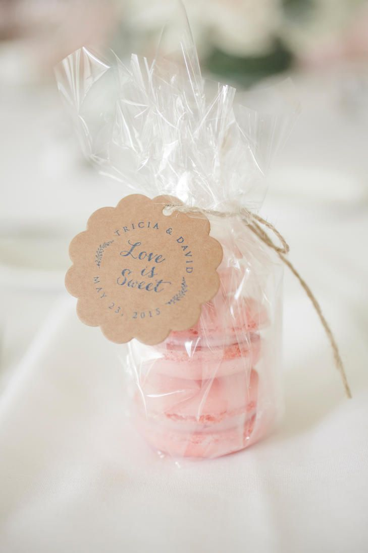 Pink Macaron Wedding Reception Favors | LOVE TREE STUDIOS | http ...