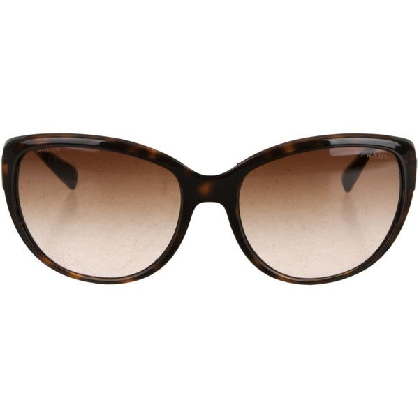 e08e3a56511 ... inexpensive pre owned prada tortoiseshell cat eye sunglasses 145 liked  on polyvore 6777c fecfe