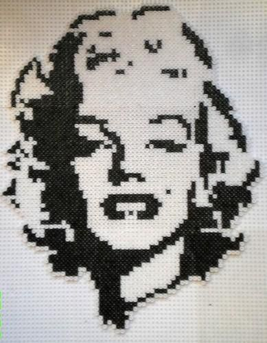 Marilyn Monroe portrait hama beads by Manondu15