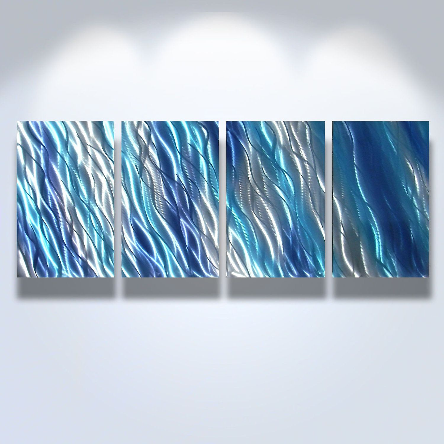 Blue Metal Wall Decor Enchanting Metal Wall Art Decor Abstract Contemporary Modern Sculpture Review