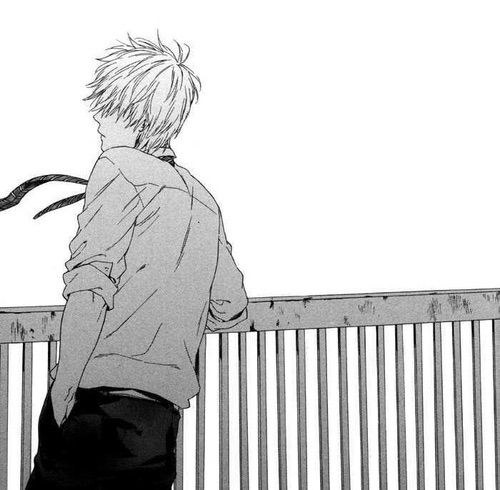 Image Via We Heart It Alone Blackandwhite Boy Manga Monochrome Mangaboy Mangacap Anime Monochrome Manga Boy Manga