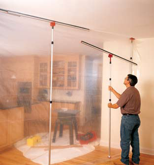 Zipwall Dust Control Barrier For Containment Paint Booth Remodel Construction Repair