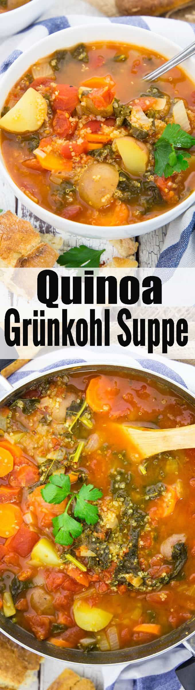 Photo of Vegetable soup with quinoa and kale