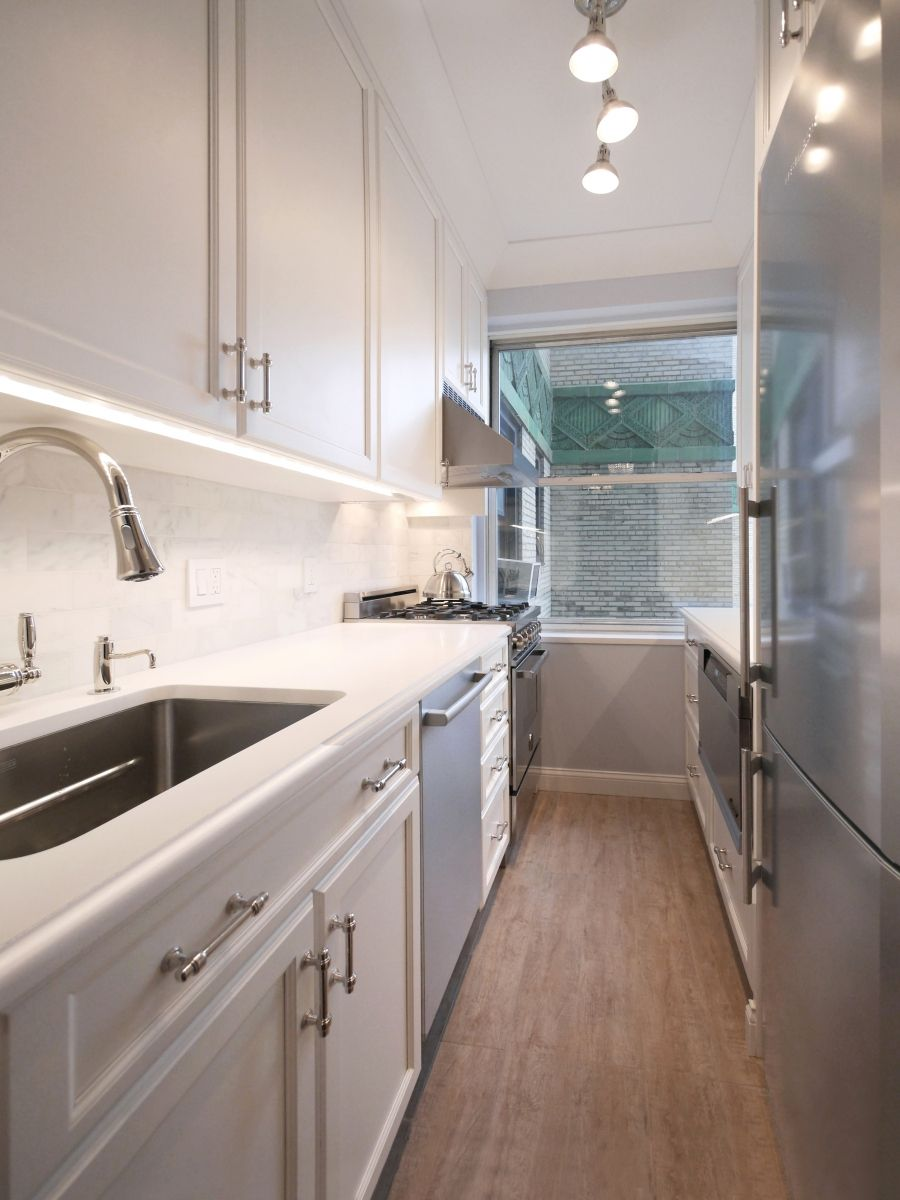 Upper East Side Apartment Renovations Nyc Galley Kitchen Renovation Galley Kitchen Remodel Galley Kitchen Design