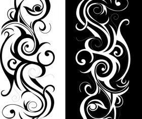 Swirls decor design vector set 03