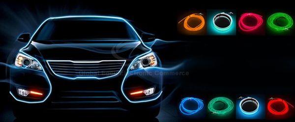 Wholesale Flexible Neon Cold Light Glow Strip EL Wire for Car ...