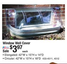 Window Well Cover From Menards 3 97 Window Well Cover Window