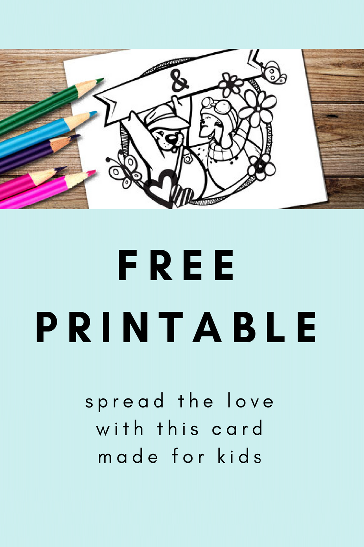 free printable for kids! color your own card for a friend | Crafts ...