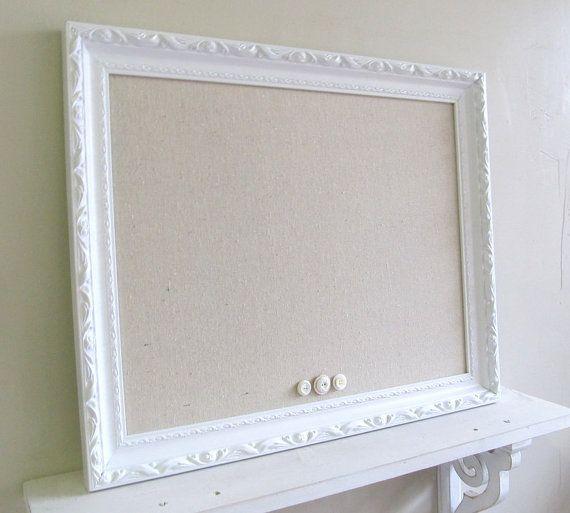 NURSERY WALL DECOR Framed Magnetic Board Unique Baby Gift Cork Board ...