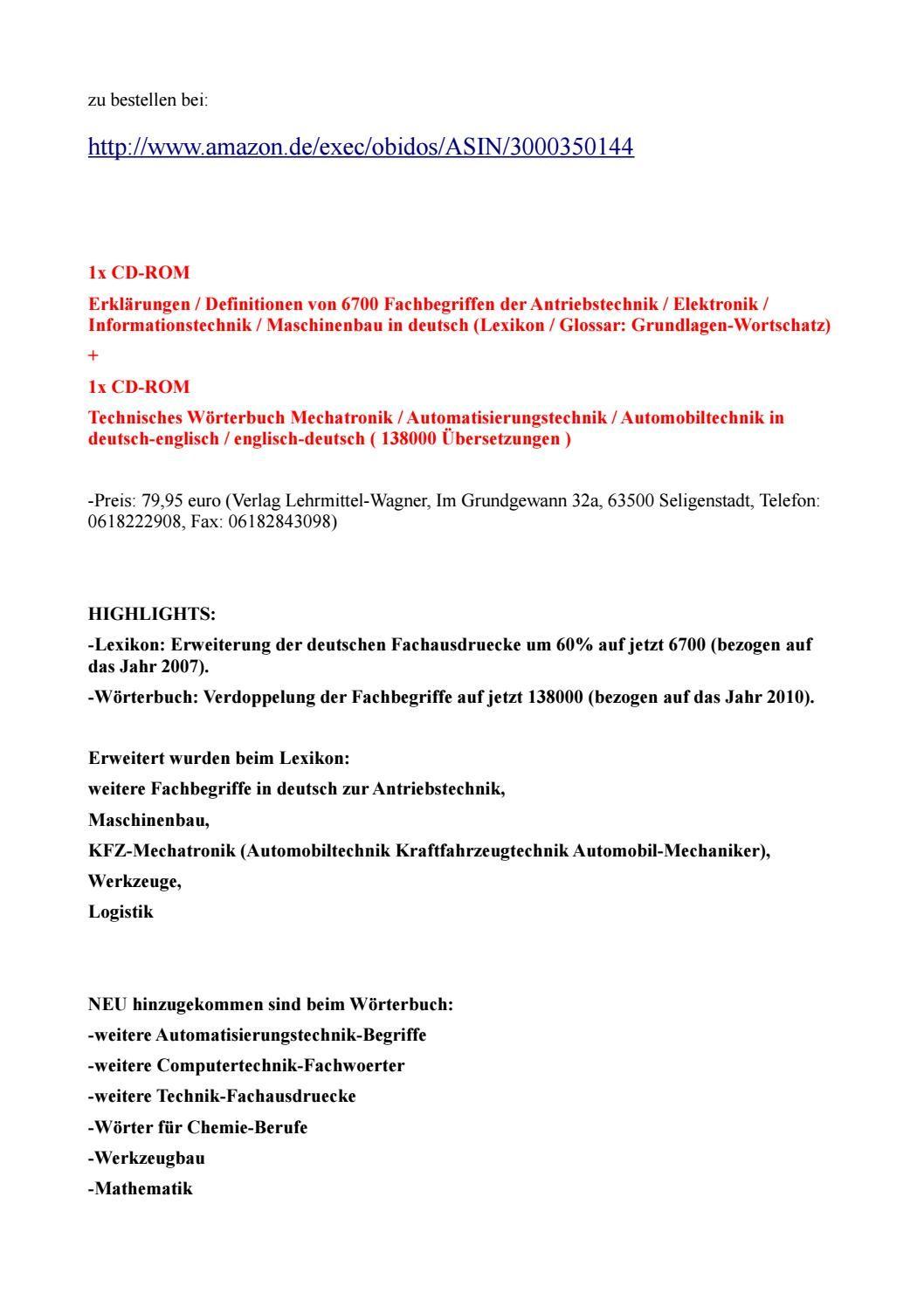 Lexikon-begriffe: befehlsgeraet mechanische antriebssysteme weg-zeit ...