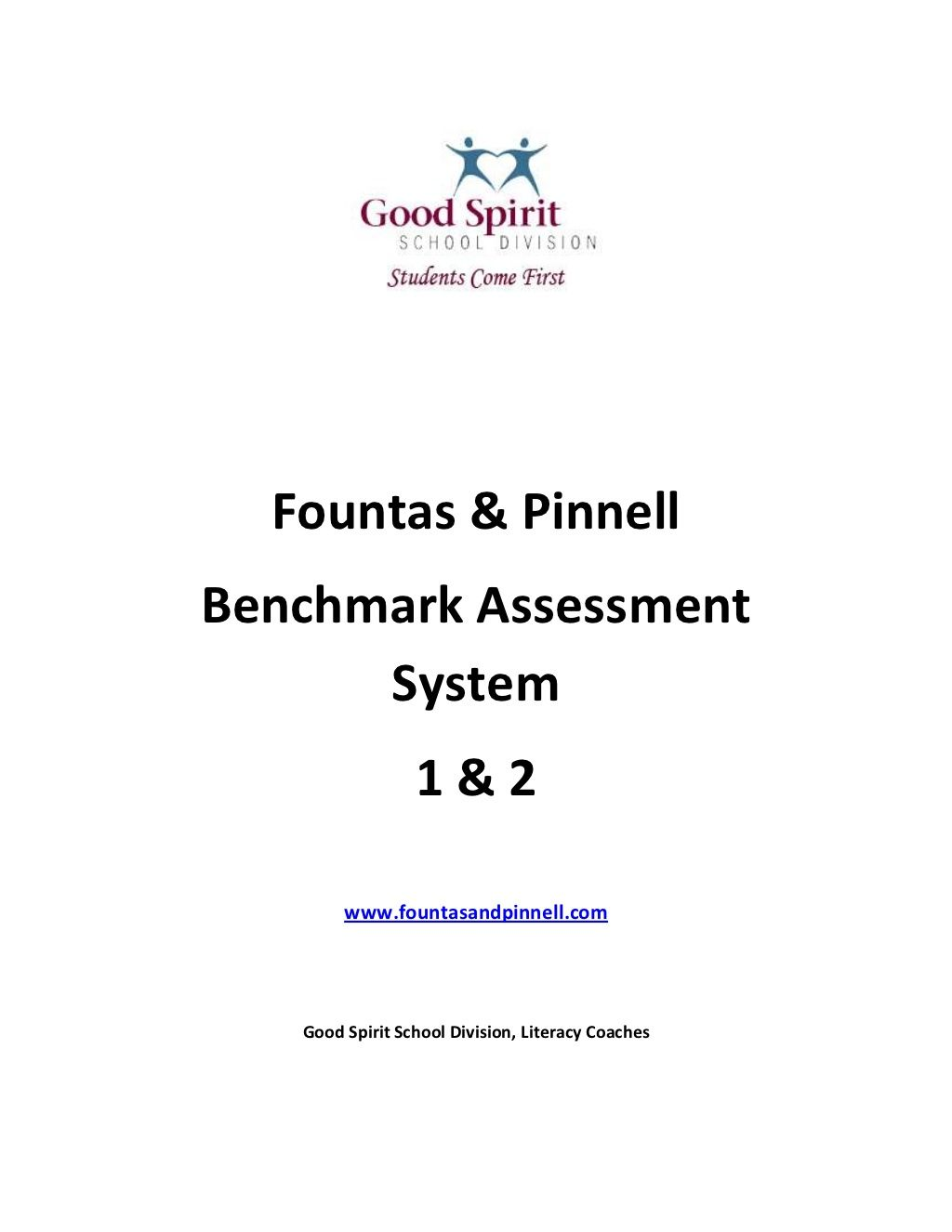 Benchmark Assessments... fountas-and-pinnell-bas-handout