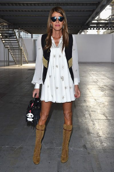 Anna dello Russo Photos: COSTUME NATIONAL HOMME - Front Row - Milan Menswear Fashion Week Fall Winter 2015/2016