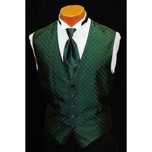 e33b46c12a79d dark green tux vests | Men's Hunter/Dark Green Tuxedo Vest Tie All Sizes -  Polyvore