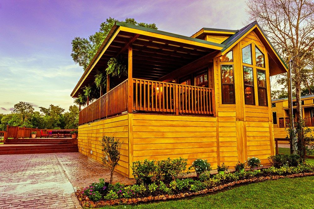 Park Model Cabin Plus Casita on for sale on the Tiny House