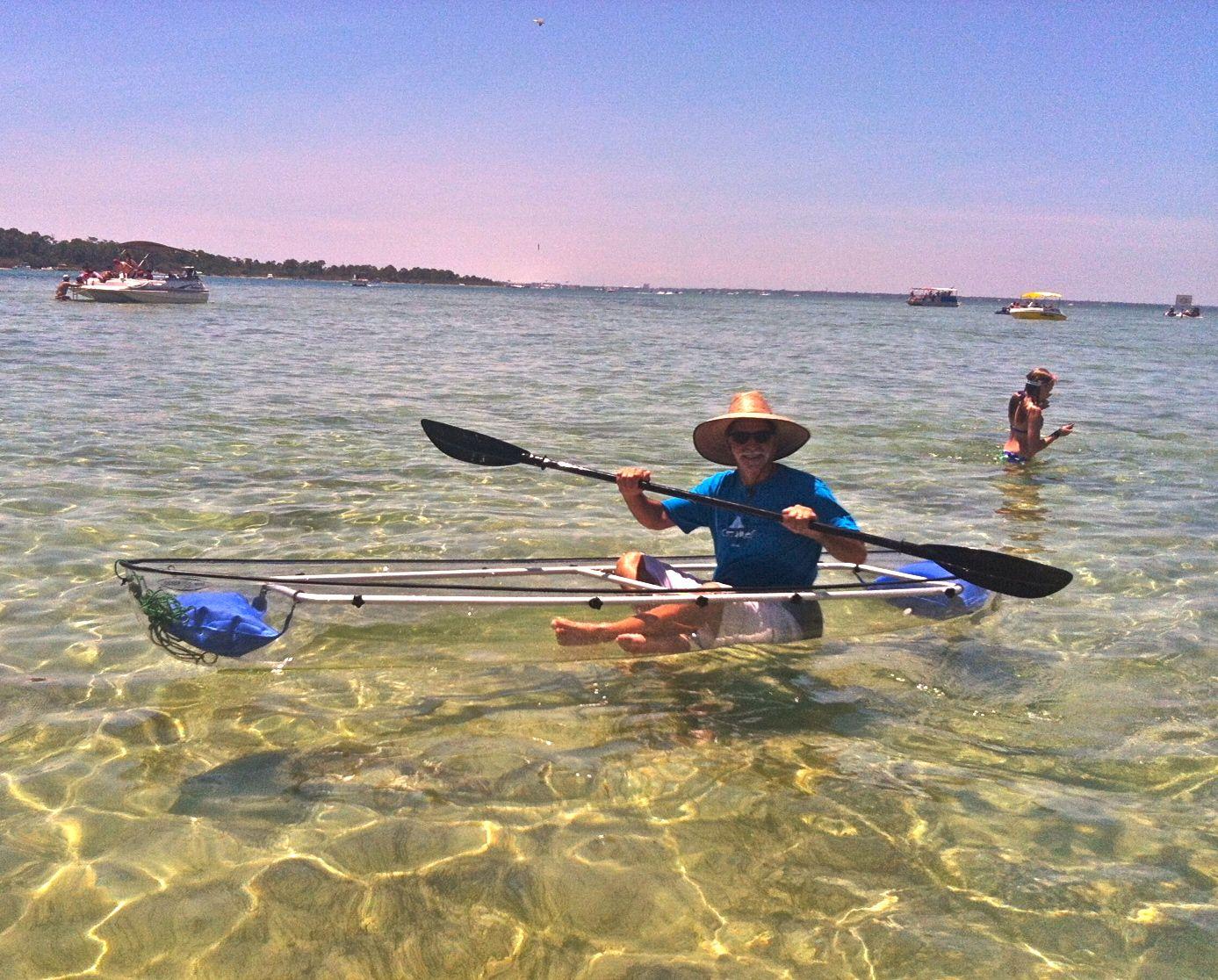 Crab Island Destin in a Clear Canoe ! Breathtaking views