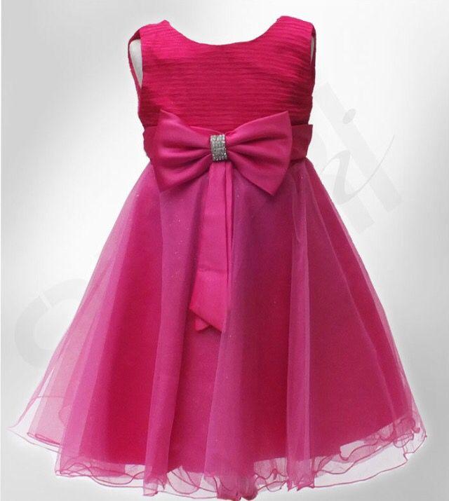 Bright pink flower girl dress kids pinterest pink flower girl bright pink flower girl dress mightylinksfo