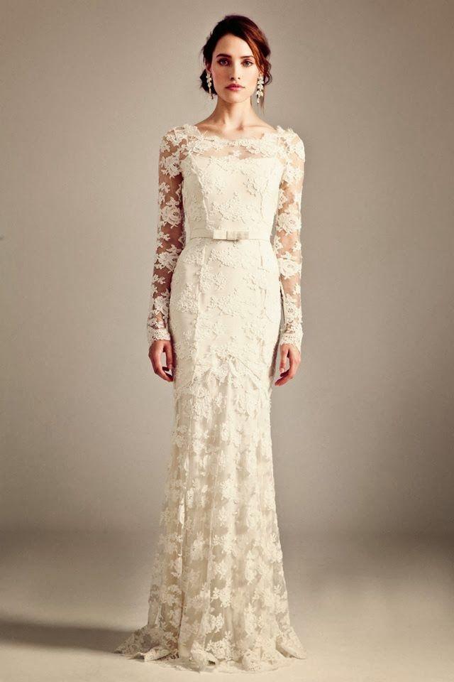 Long sleeves lace wedding dress- Temperley London | FASHION ...