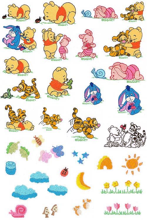 Baby Winnie The Pooh And Friends Disney Set Machine Embroidery