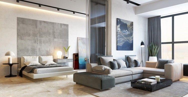 Am nagement petit appartement avec sol en marbre parement - Ameublement design appartement russe ...