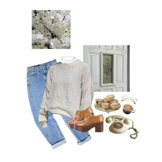 """early bloom"" by paper-freckles ❤ liked on Polyvore featuring Levi's, St. John and Michael Kors"