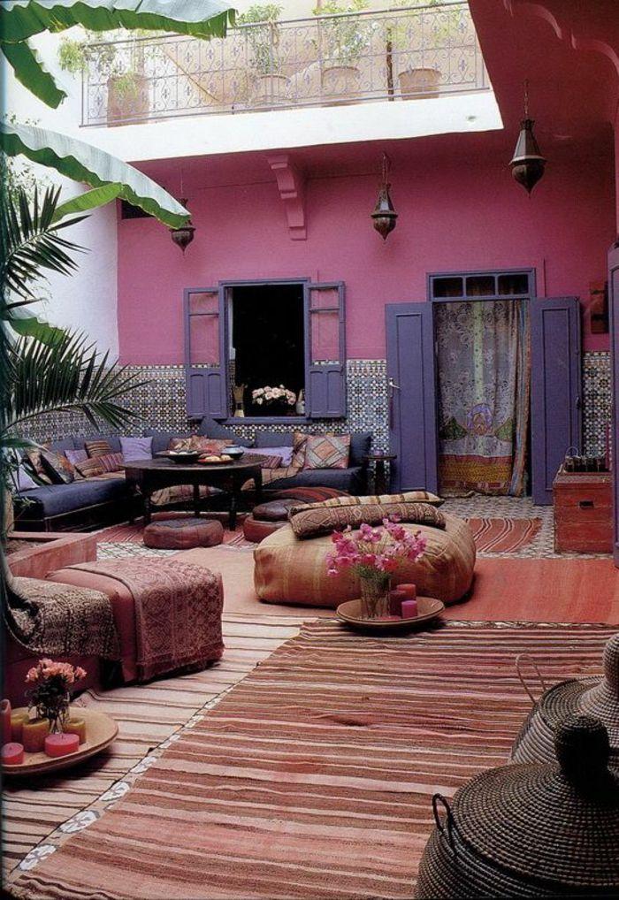 Le Salon Marocain De Mille Et Une Nuits En 50 Photos Salon Marocain Deco Marocaine Jardin Marocain
