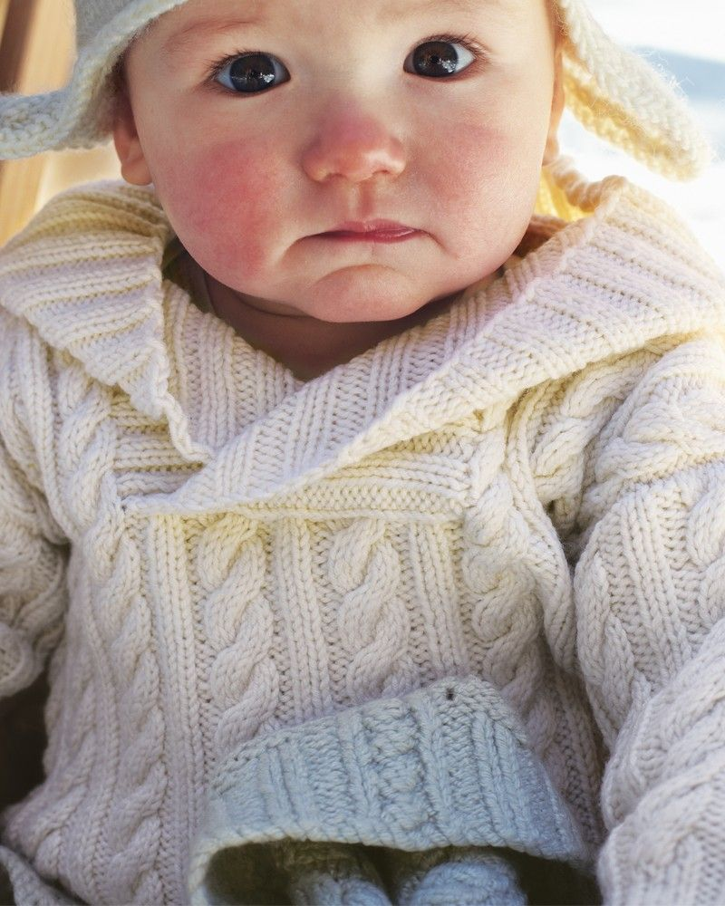 05 – Baby\'s Hooded Sweater | Knitting Fever Yarns & Euro Yarns ...